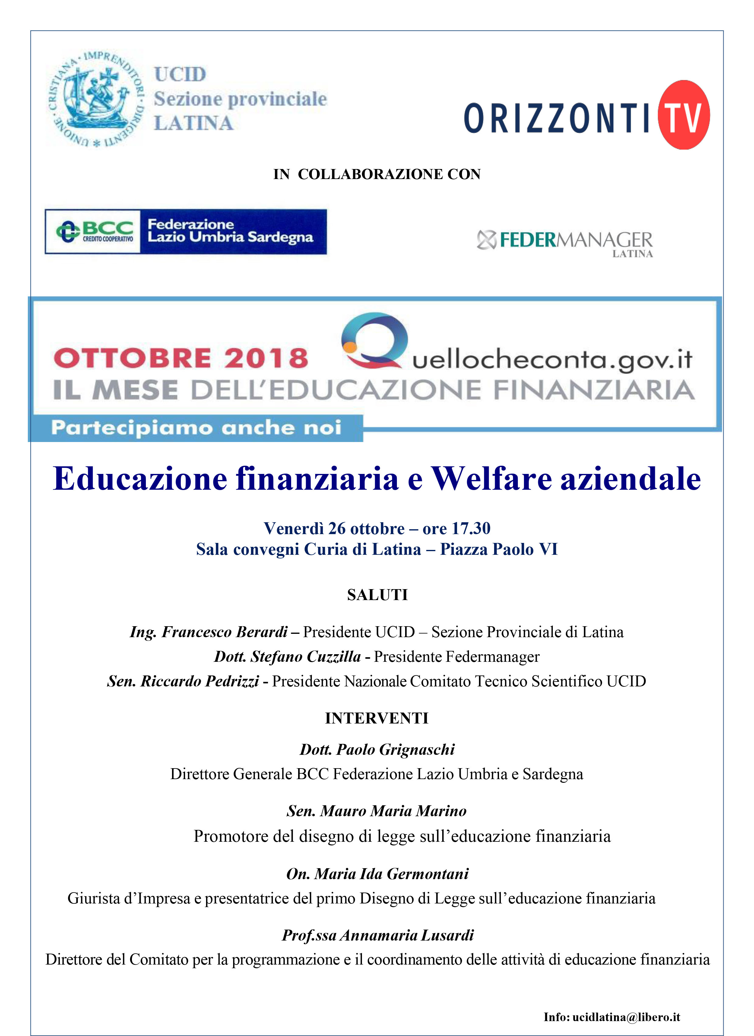 "3368d610d0 Convegno – ""Educazione finanziaria e Welfare aziendale""   UCID ..."