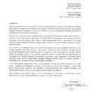 Lettera Banca Popolare del Cassinate per ringraziamento