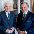 Foto Riccardo Ghidella con il Presidente della Repubblica Sergio Mattarella