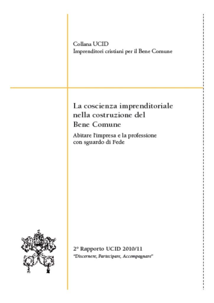 """Presentazione Rapporto 2010 """"Discernere, Partecipare, Accompagnare"""""""