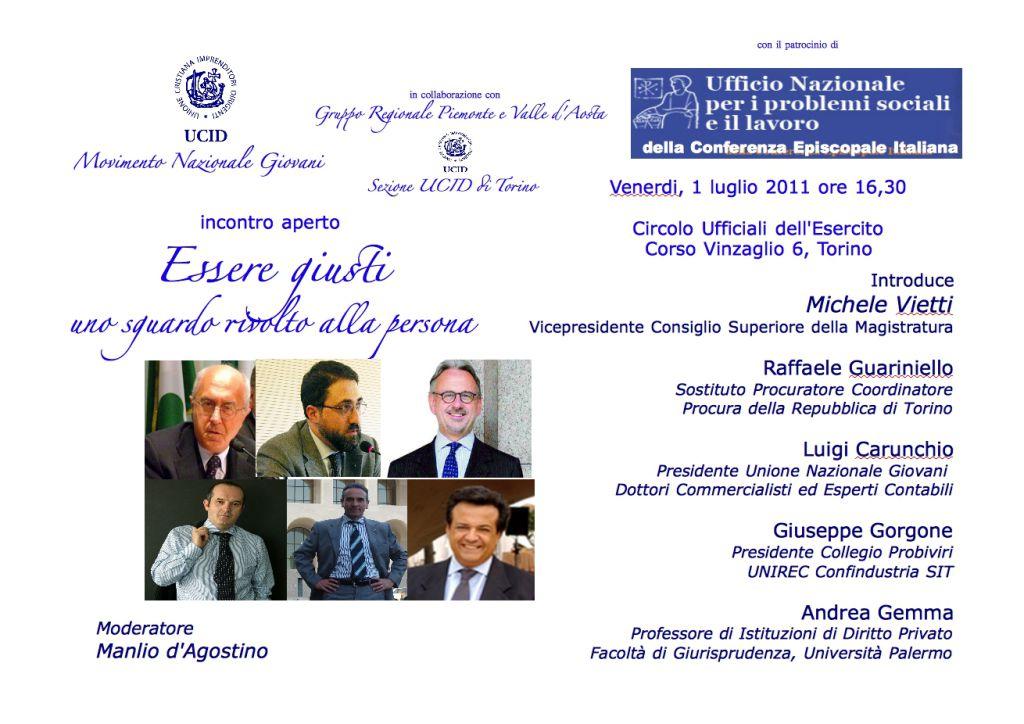 """L""""essere giusti"""" e la giustizia? Introduce i lavori Michele Vietti, vicepresidente CSM"""
