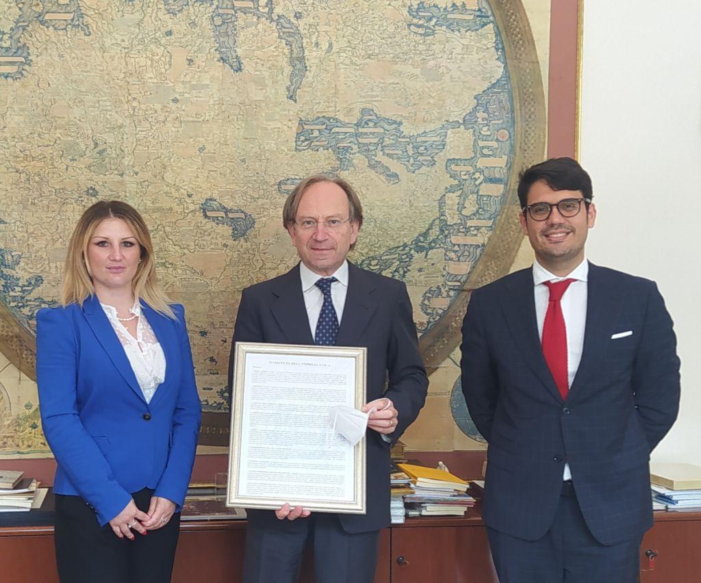 Il Movimento Giovani UCID Nazionale incontra S.E.l'Ambasciatore Pietro Sebastiani